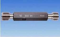 Metric thread plug gage