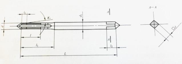 M2.5x0.35 thread tap