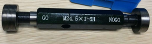 Metric plug gage